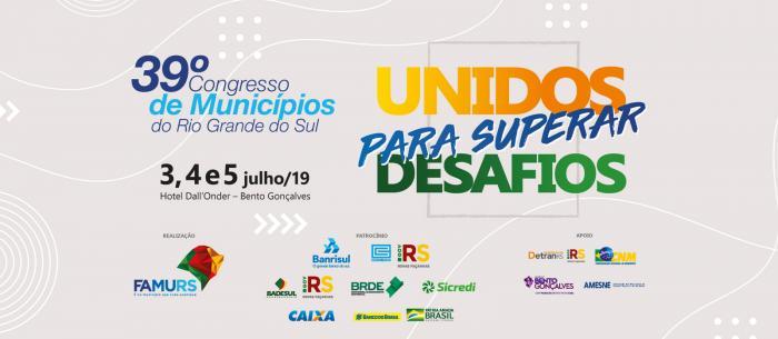 Imagem ilustrativa da notícia: Famurs promove 39º Congresso de Municípios do RS em Bento Gonçalves