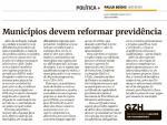 Imagem ilustrativa da notícia: Novos prefeitos devem promover reformas nas previdências municipais