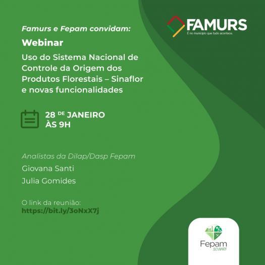 Imagem ilustrativa da notícia: Famurs e Fepam convidam para webinar sobre o Sinaflor