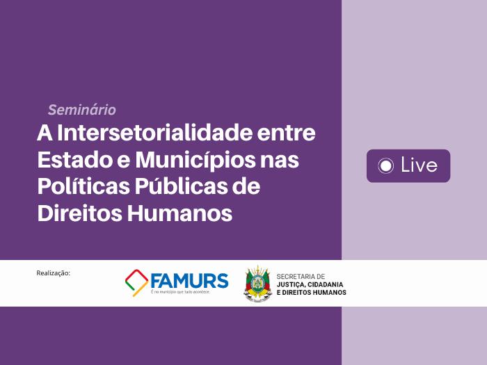 Imagem ilustrativa da notícia: Famurs e SJCDH realizam seminário sobre políticas públicas de direitos humanos