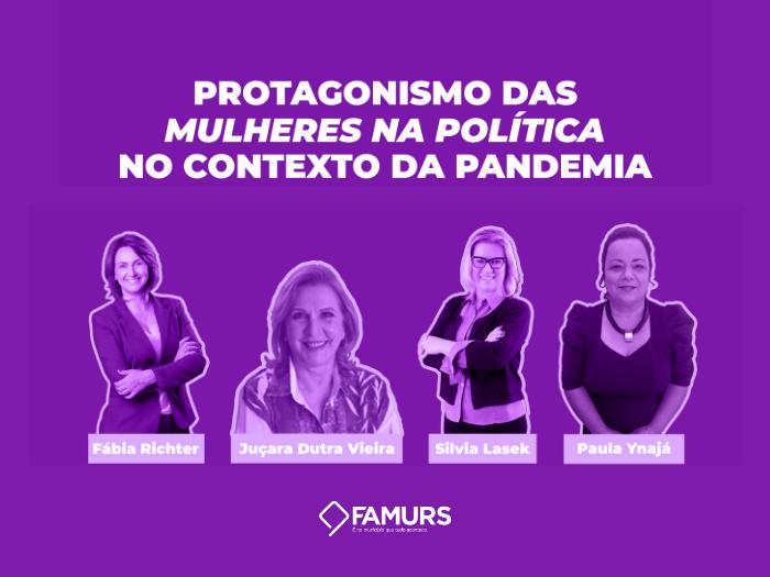 Imagem ilustrativa da notícia: Famurs realiza live sobre protagonismo da mulher na política no contexto da pandemia