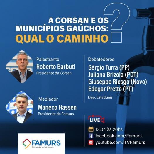 Imagem ilustrativa da notícia: Famurs vai debater a situação da Corsan nesta terça-feira