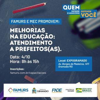 Imagem ilustrativa da notícia: Famurs e MEC promovem encontro com prefeitos gaúchos para apresentar programas e políticas públicas para a Educação