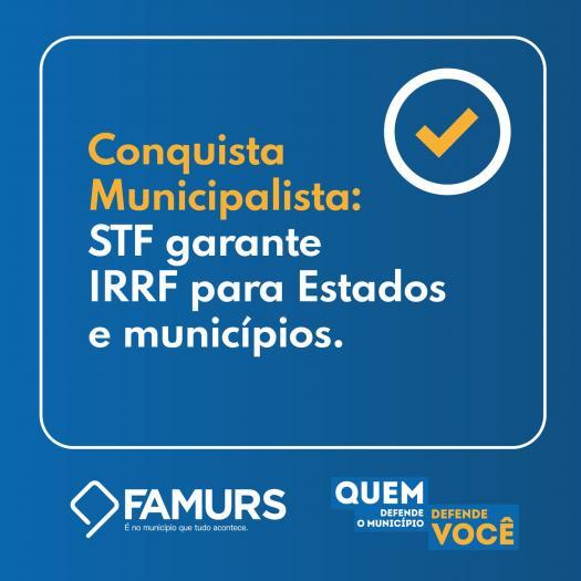 Imagem ilustrativa da notícia: STF garante IRRF para Estados e municípios