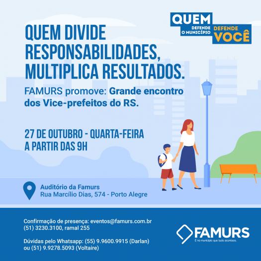 Imagem ilustrativa da notícia: Grande encontro dos vice-prefeitos do RS terá palestras sobre papel do gestor, comunicação, redes sociais e inovação